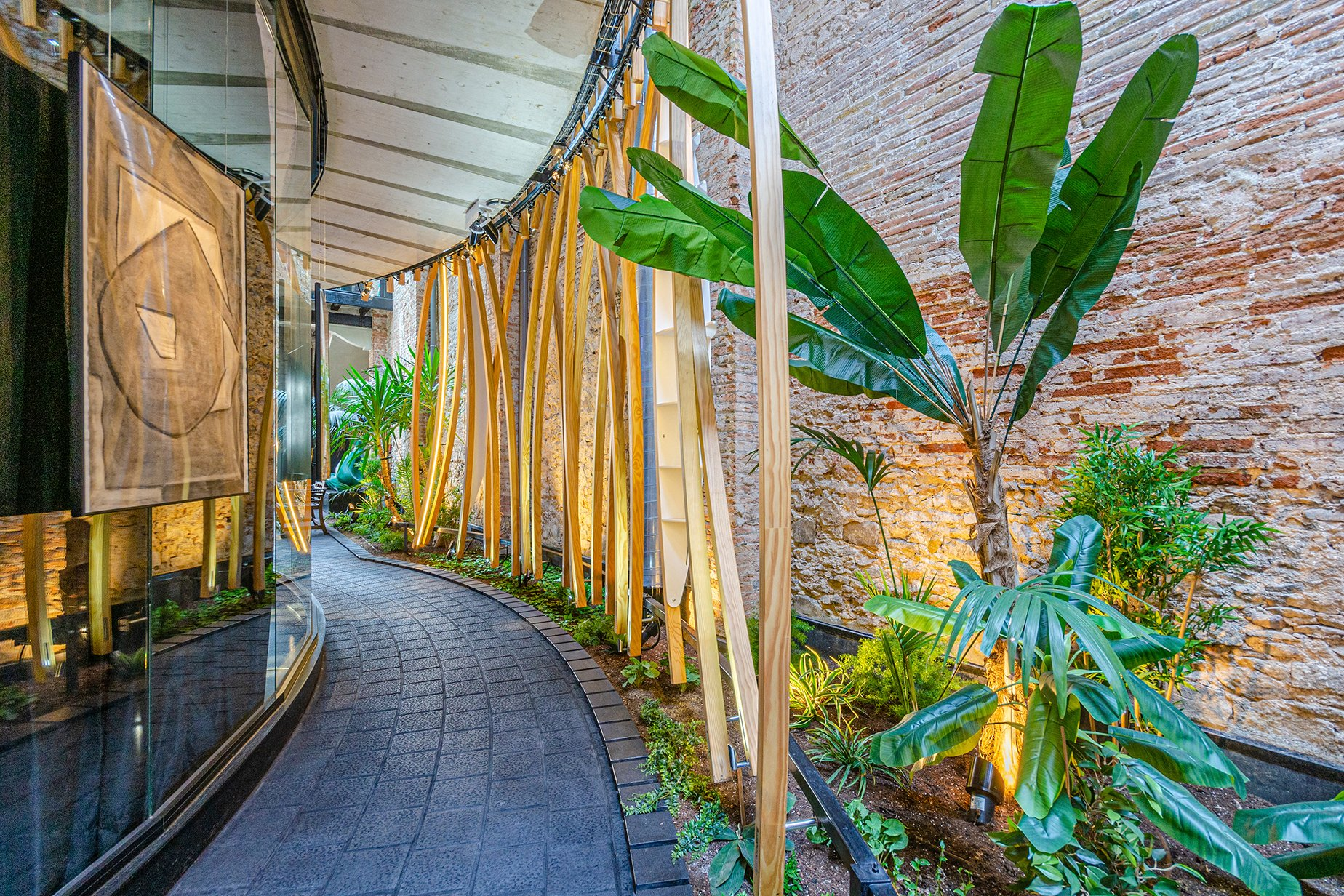 An Architectural Delight In The Innovation And Tech Hub Of Barcelona Walkway