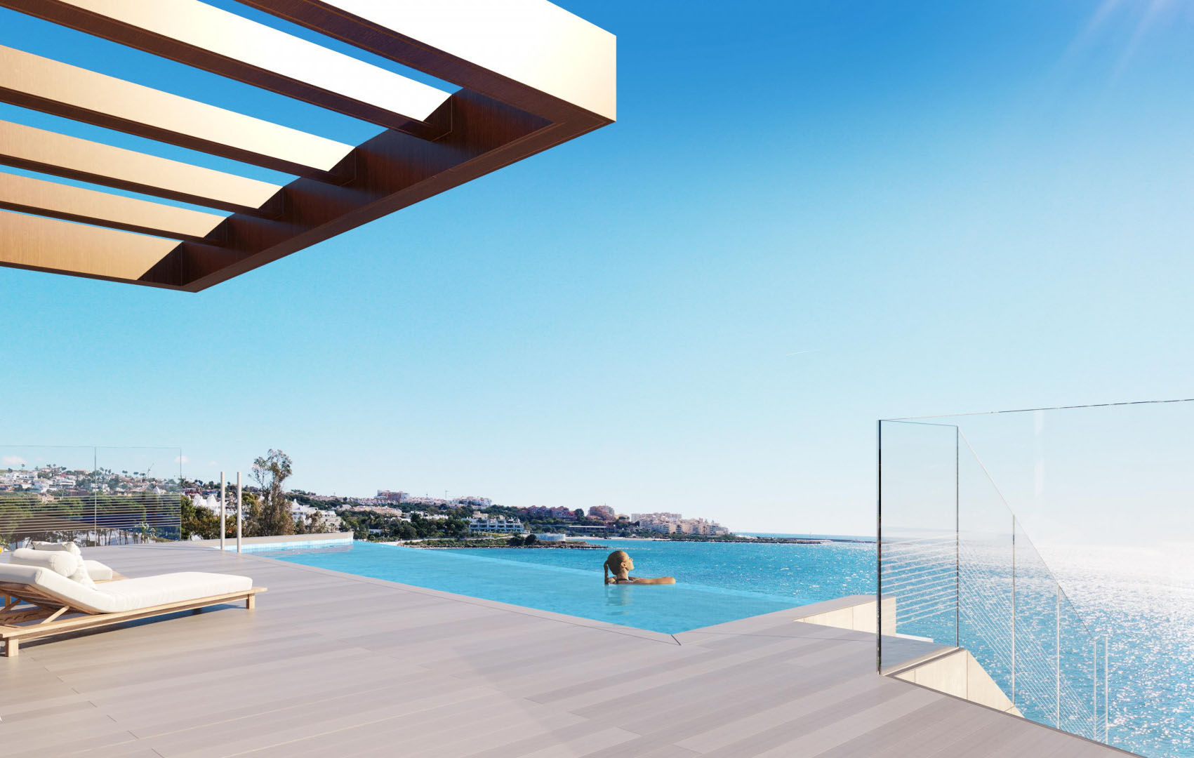 Fantastic Front Line Beach Development in Estepona Pool