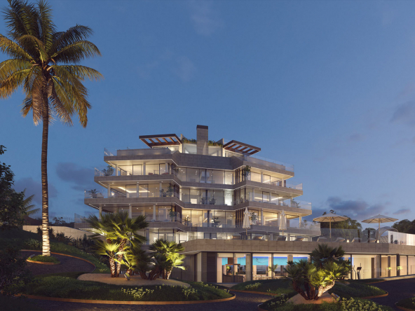 Fantastic Front Line Beach Development in Estepona Entrance