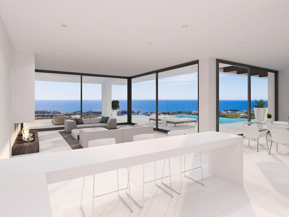 Luxury Contemporary Villa in Estepona Open Plan Floor Area