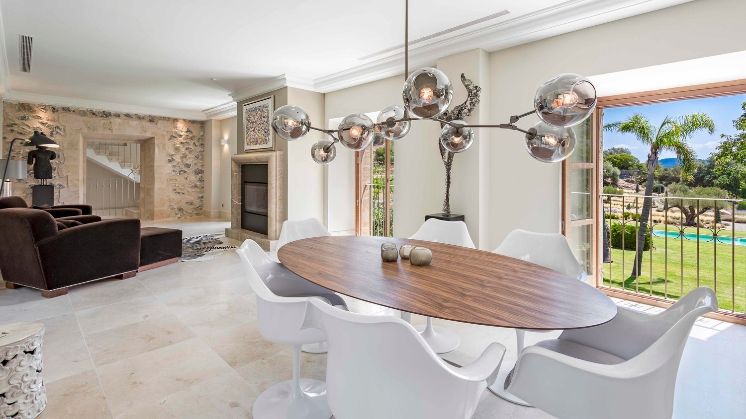 Authentic Mallorcan Mansion with Panoramic Countryside Views Lounge