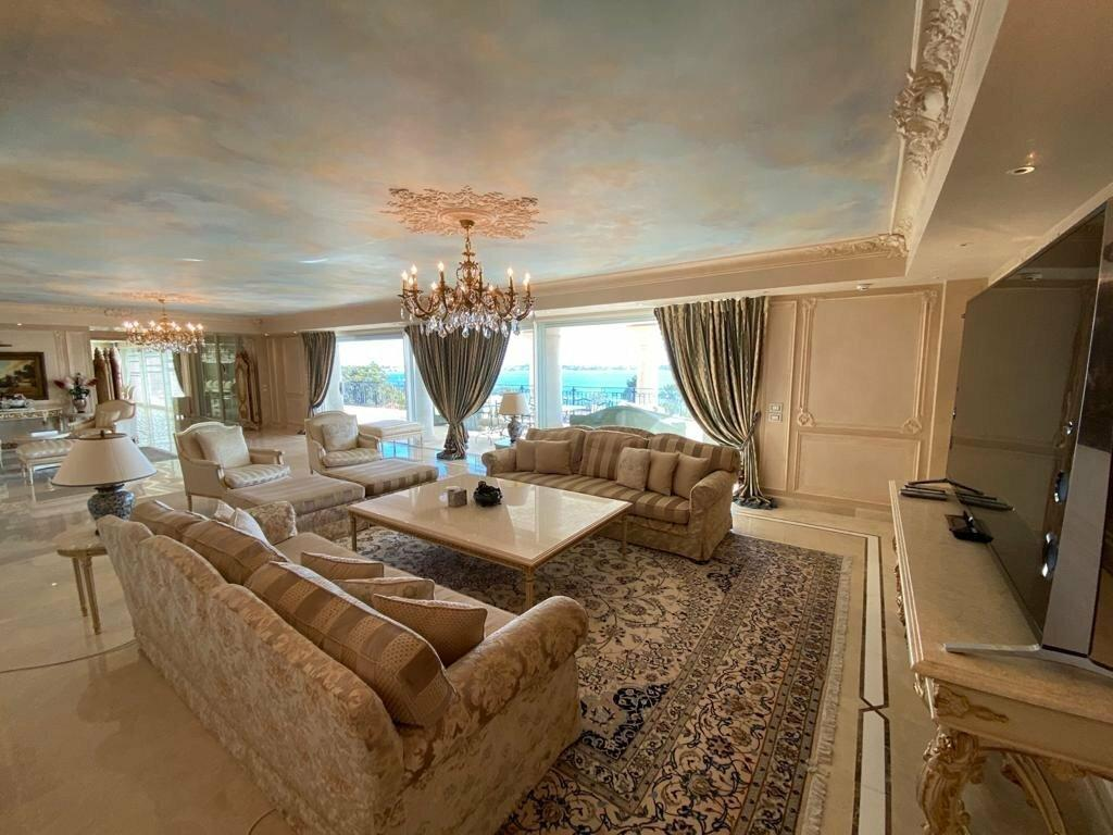 Property in Cannes with Sea View Living Room