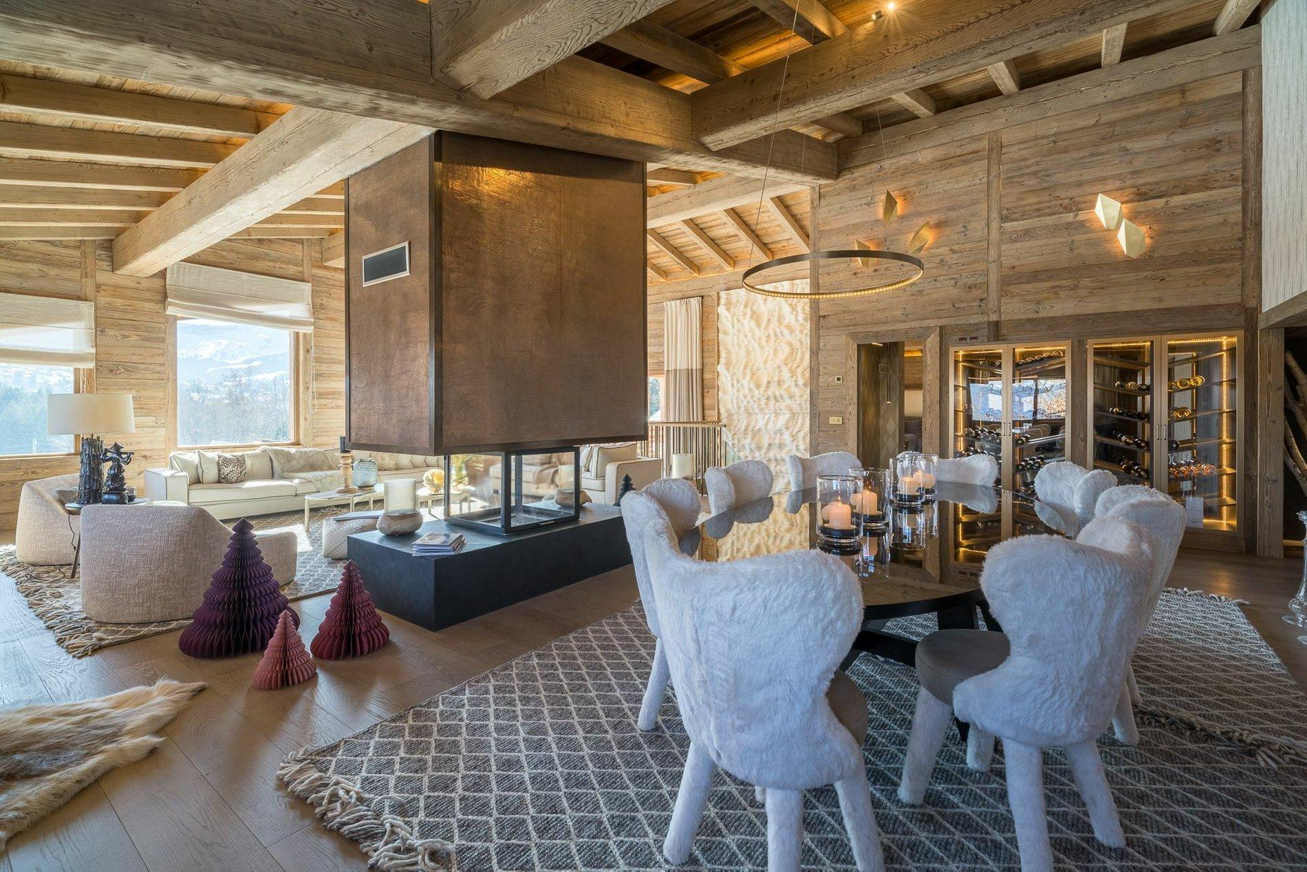 Holiday Chalet For Sale In The French Alps Dining Room