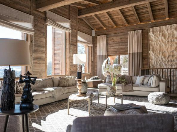 Holiday Chalet For Sale In The French Alps Living Room