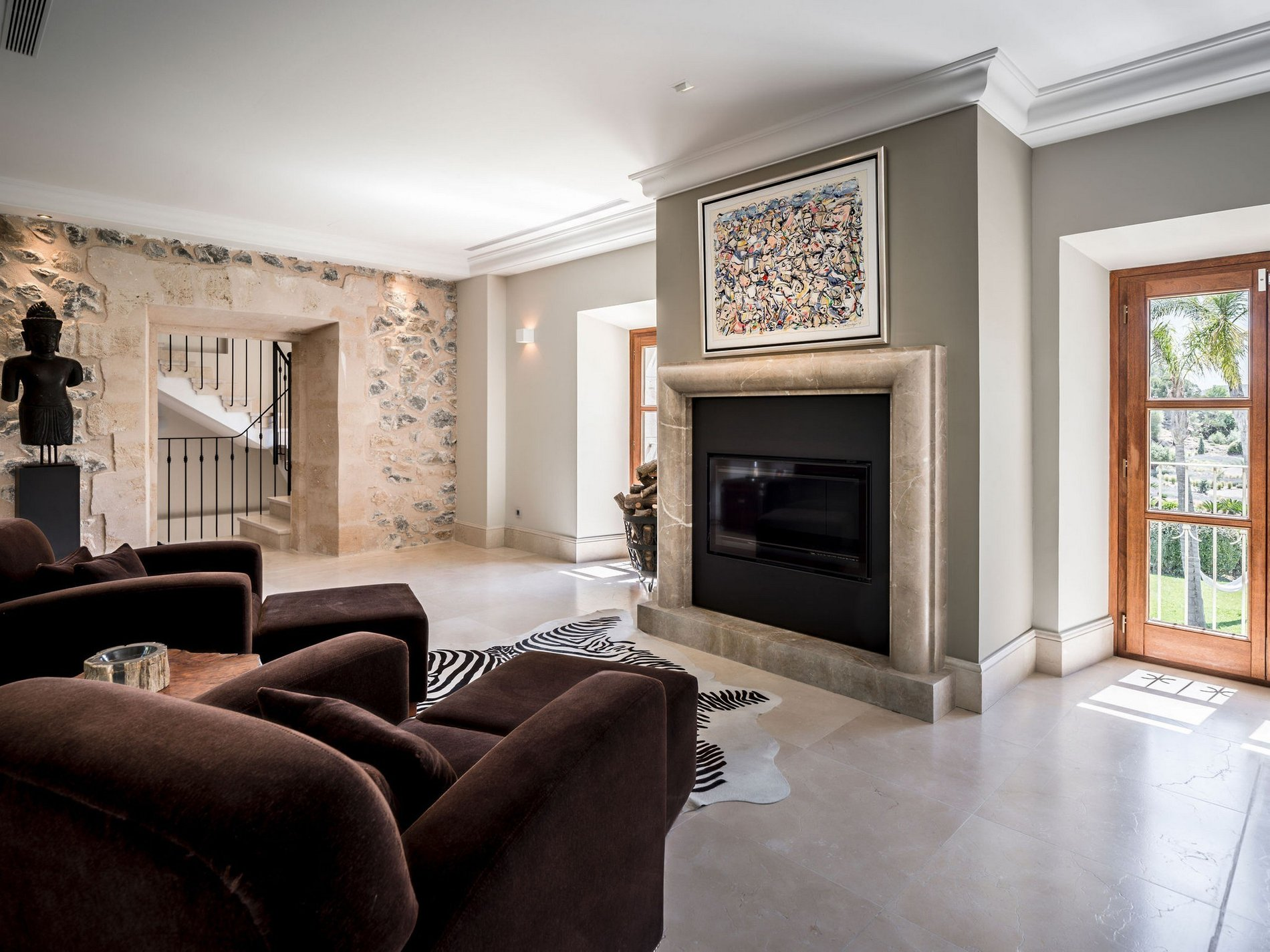 Unique Renovated Country Estate In Puigpunyent Living Room