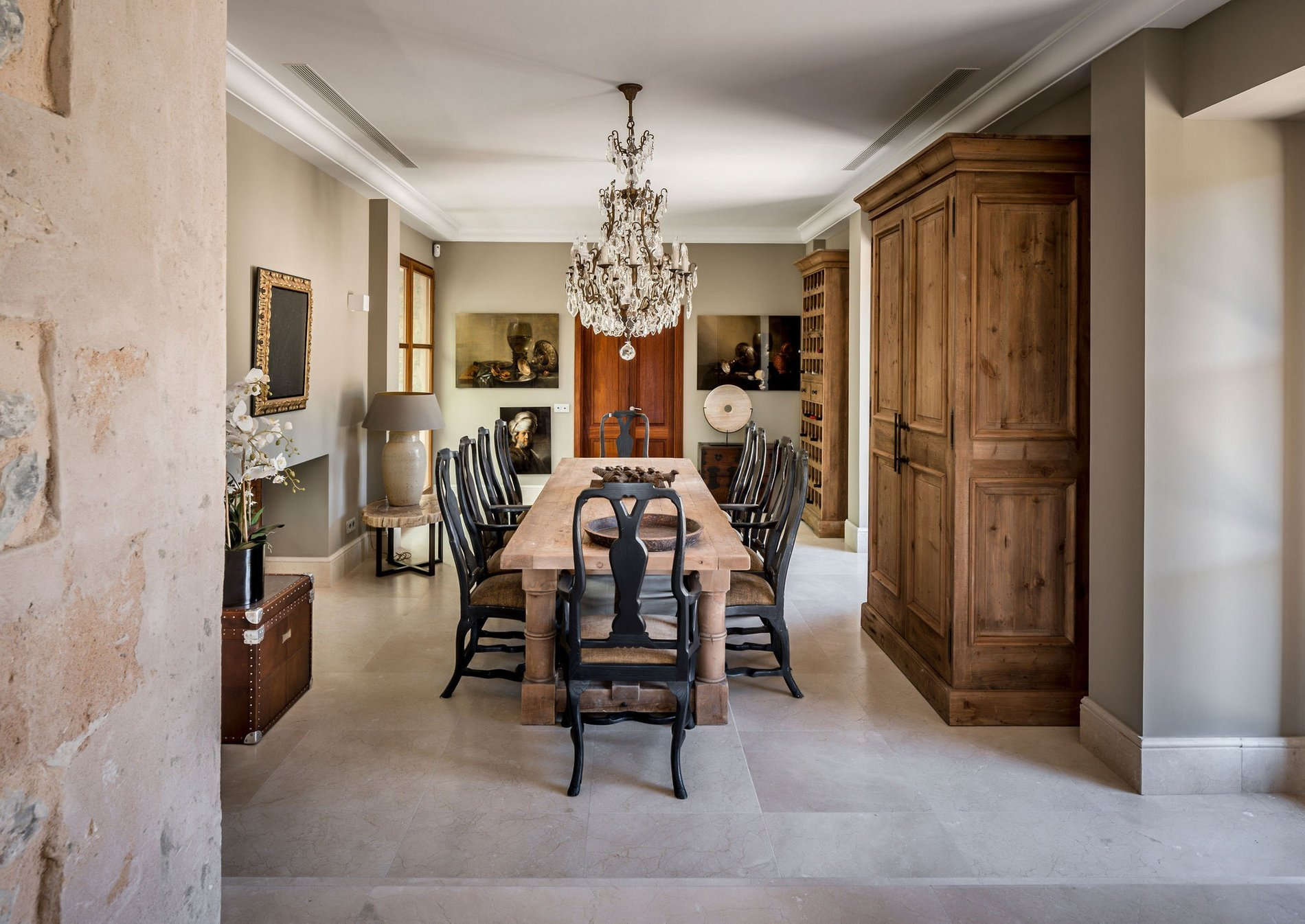 Unique Renovated Country Estate In Puigpunyent Dining Room