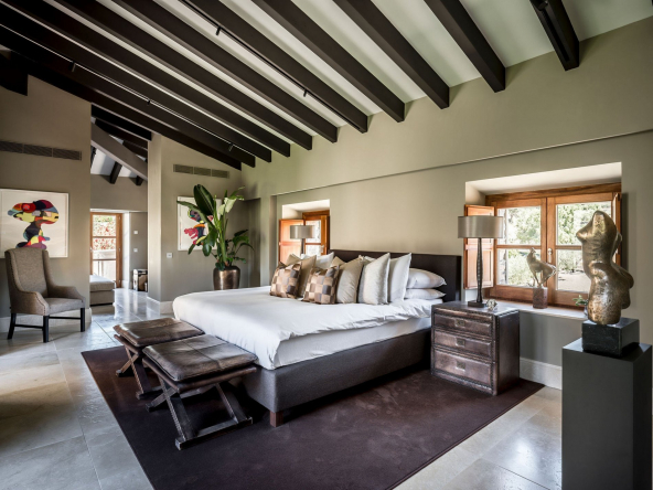 Unique Renovated Country Estate In Puigpunyent Bedroom