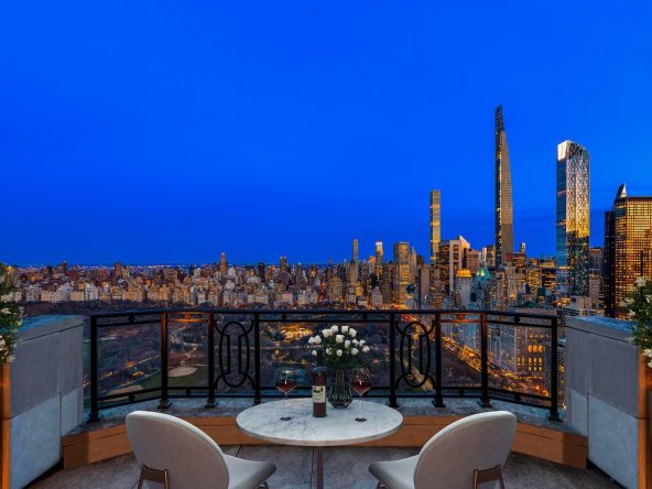 Crown Penthouse at Central Park West Balcony