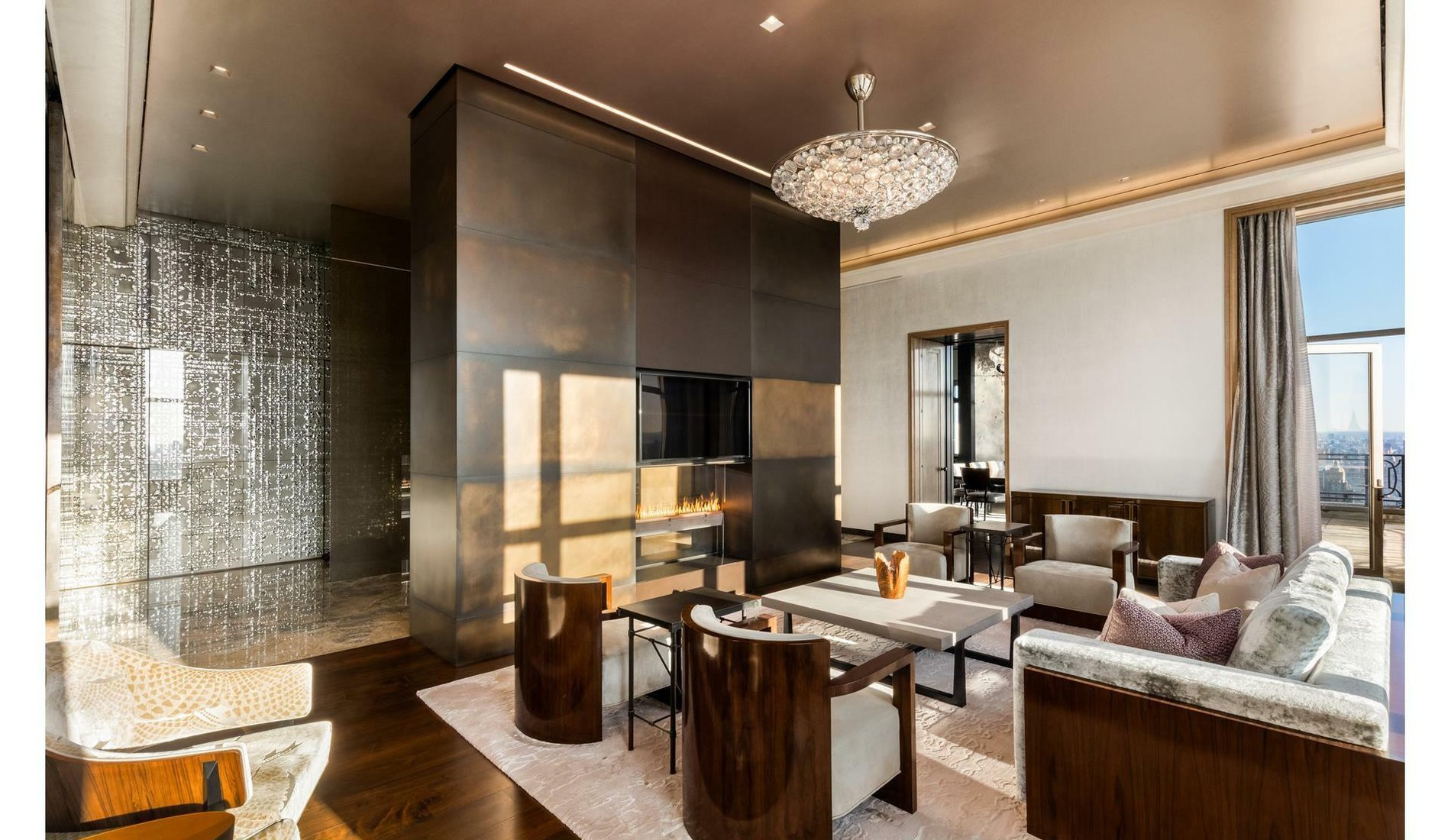 Crown Penthouse at Central Park West Living Room