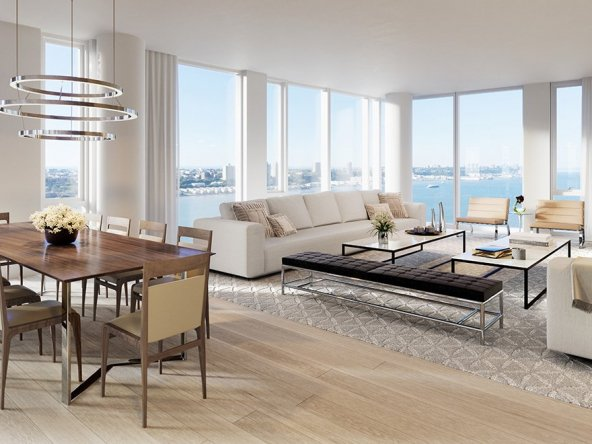 Modern Penthouse Complex Living Room