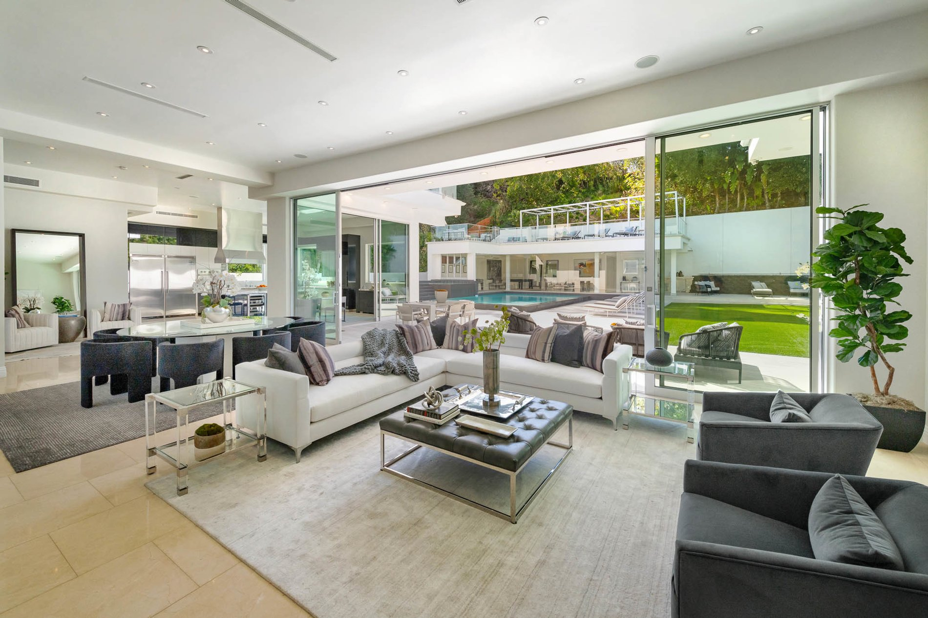 Meticulously Crafted Architectural Gem Living Room