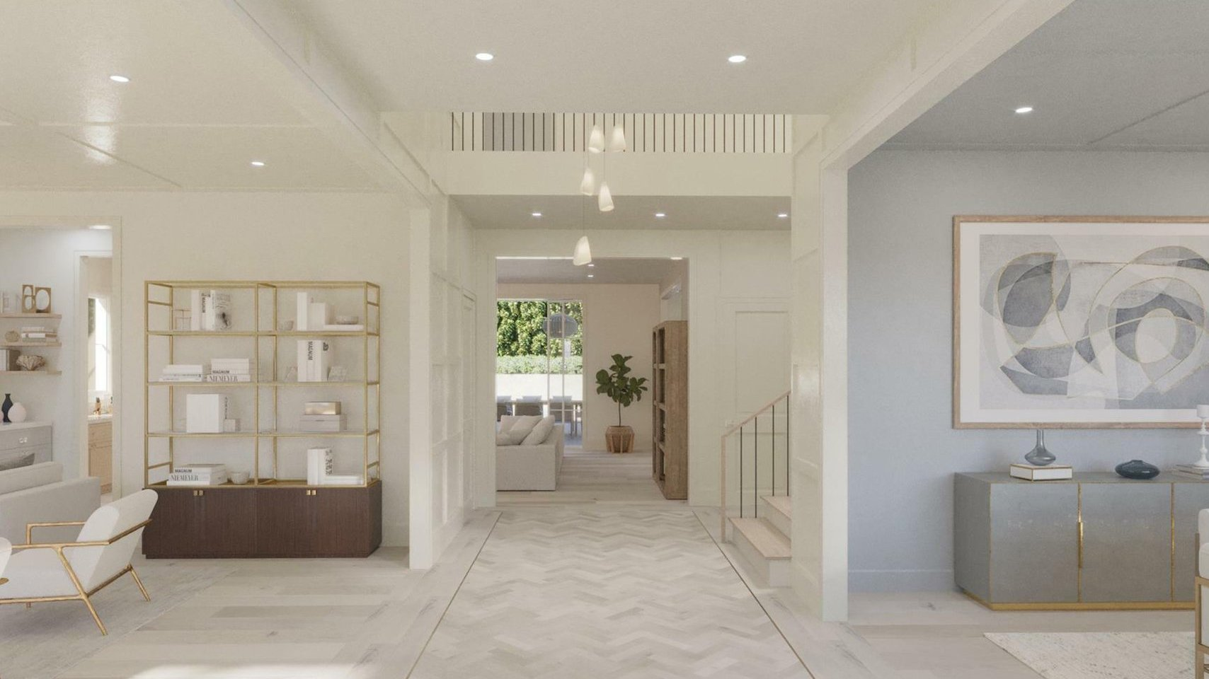 Pacific Palisades House Hallway