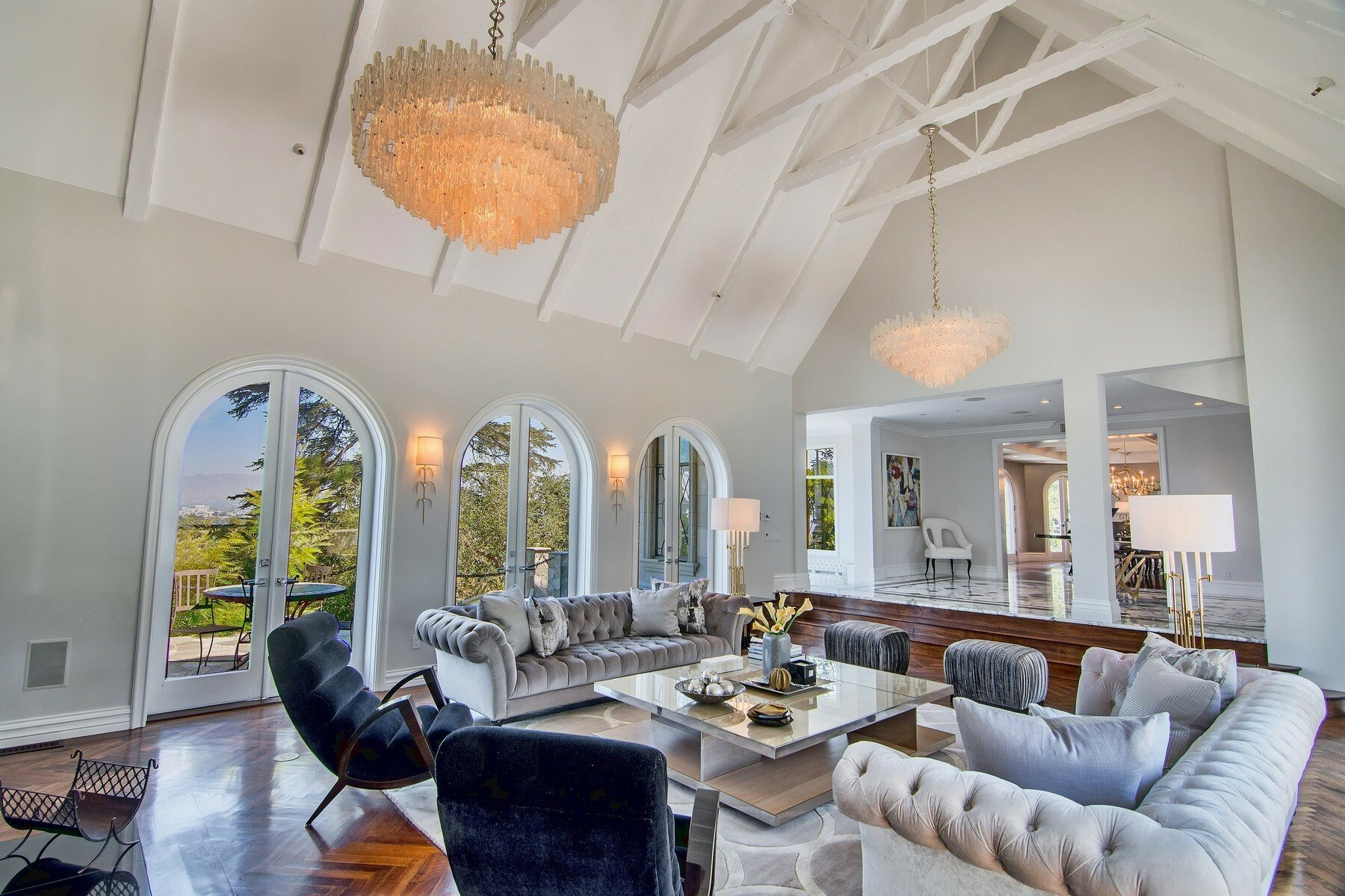 French Chateau in San Fernando Valley Living Room