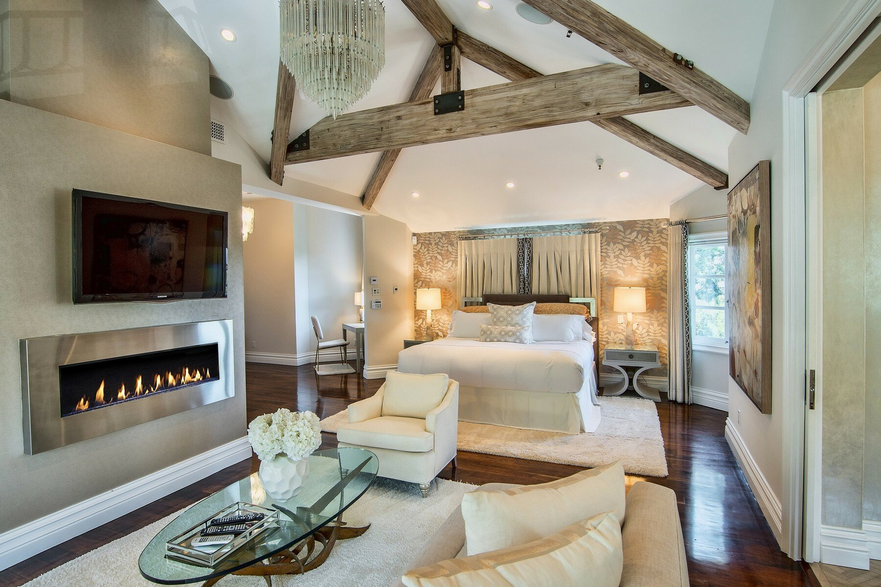 French Chateau in San Fernando Valley Bedroom